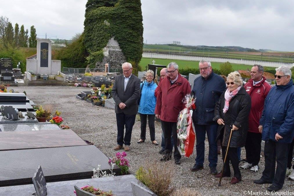 Dépôt de gerbes du 1er mai, hommages à E. Crépin et JP-Poidevin