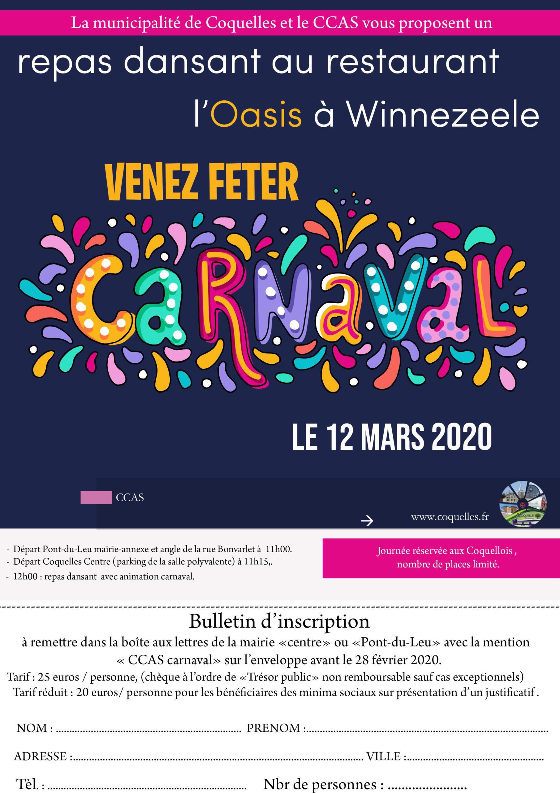 Repas dansant Carnaval