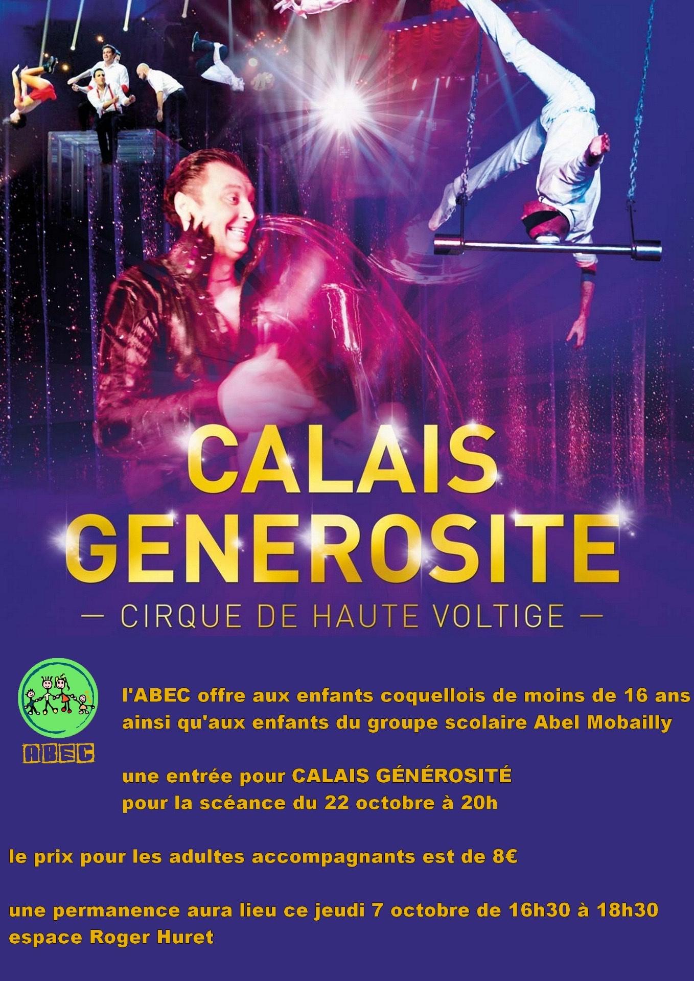 Calais générosité avec l'ABEC