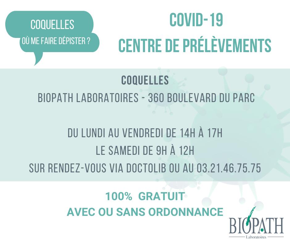 Covid-19 centre de prélèvements