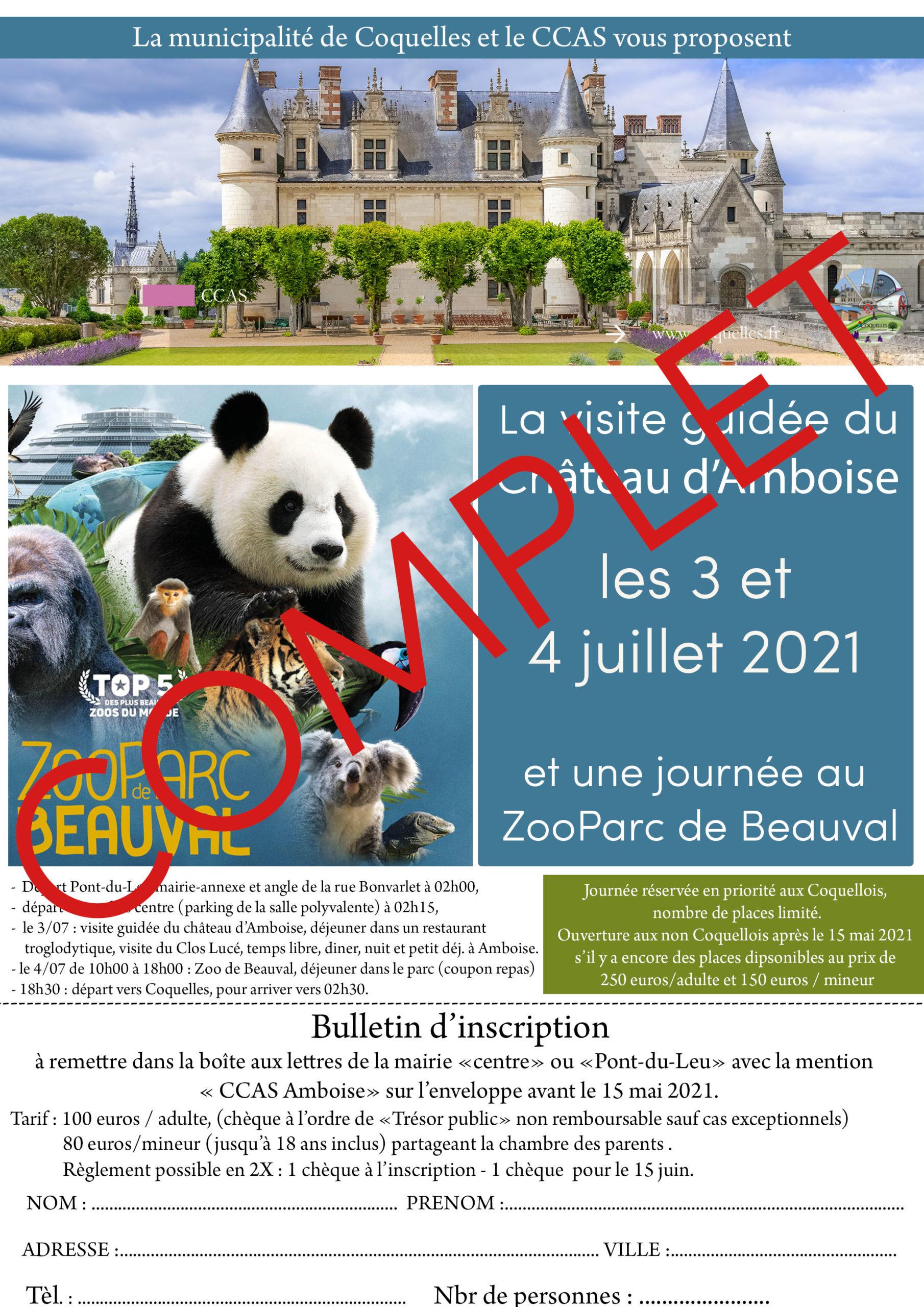 Château d'auboise et zoo de Beauval